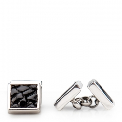 Black Crocodile Cufflinks