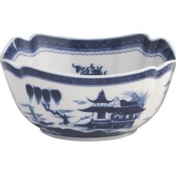Blue Canton Large Square Bowl