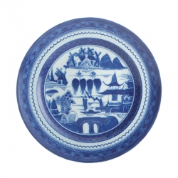 Blue Canton Large Dinner Plate