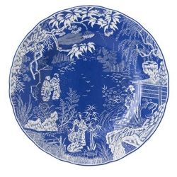 Mikado Blue Dinner Plate