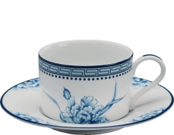 Canton Flower Cup and Saucer