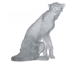 Crystal Cheetah Sculpture