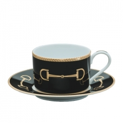 Cheval Black Cup and Saucer
