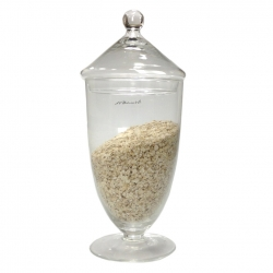 Tall Covered Glass Jar