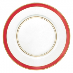 Cristobal Coral Small Band Dinner Plate