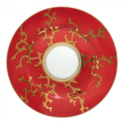 Cristobal Coral Dessert Plate with Gold