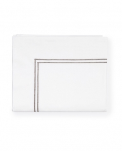 Grande Hotel White/Grey Full/Queen Flat Sheet