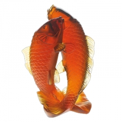 Golden Carps Sculpture