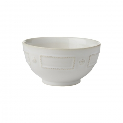French Panel Whitewash Cereal/Ice Cream Bowl