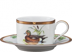 Game Birds American Widgeon Tea Cup and Saucer