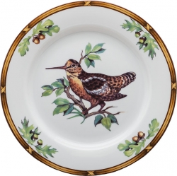 Game Birds Woodcock Salad Plate