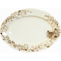 Sologne Oval Platter with Partridge