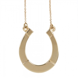 Small Gold Horseshoe Pendant