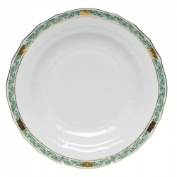 Chinese Bouquet Garland Green Dessert Plate