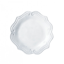 Incanto White Baroque Salad Plate