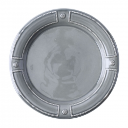 French Panel Stone Grey Dinner Plate