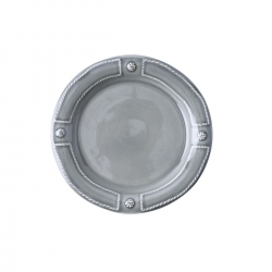French Panel Stone Grey Side/Cocktail Plate