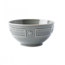 French Panel Stone Grey Cereal/Ice Cream Bowl