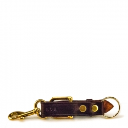 Key Fob with Personalized Brass Plate