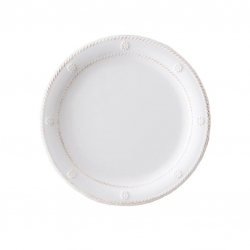 Al Fresco Berry & Thread Whitewash Melamine Dessert/Salad Plate
