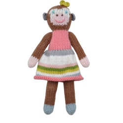 Girl Monkey School Book Rattle