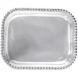 Pearled Rectangle Platter