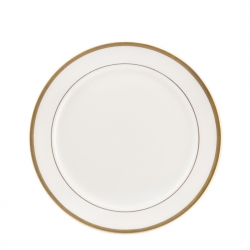 Gold Bracelet White with Gold Salad Plate