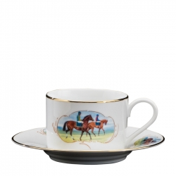 Post Parade Tea Cup and Saucer