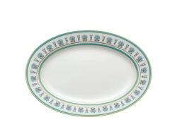 Palmette Indaco Oval Platter