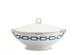 Catene Blue Oval Soup Tureen and Cover
