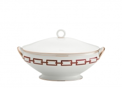 Catene Red Oval SoupTureen and Cover