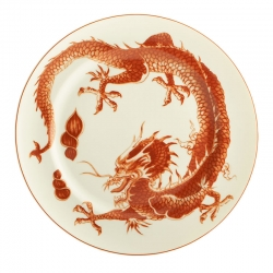 Red Dragon Dessert Plate