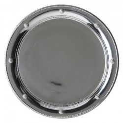 Berry & Thread Round Metal Tray