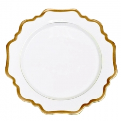 Antique White with Gold Dessert Plate