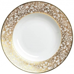 Salamanque Gold French Rim Soup Plate