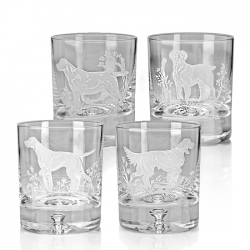 Gun Dogs Set of Four Double Old Fashioneds
