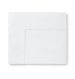 Celeste White Full/Queen Flat Sheet