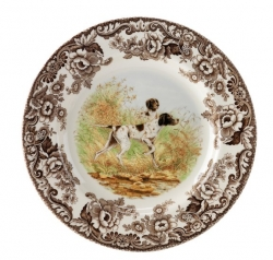 Woodland Flat Coated Pointer Salad Plate