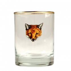Cheer the Fox Set of Four Double Old Fashioned