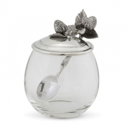 Strawberry Jam Jar with Spoon