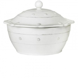 Berry & Thread Whitewash Large Covered Casserole