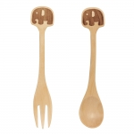 Elephant Wood Fork and Spoon