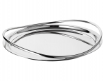 Vertigo Silver Plated Round Serving Tray