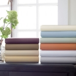 Savoia Stripe Sateen King Fitted Sheet