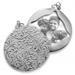 Sterling Half Locket Charm
