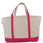Large Hot Pink Boat Tote