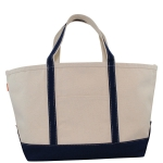 Large Navy Boat Tote