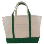 Large Emerald Boat Tote