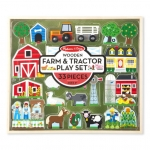Wooden Farm & Tractor Set