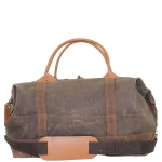 Olive with Khaki Trim Waxed Canvas Weekender